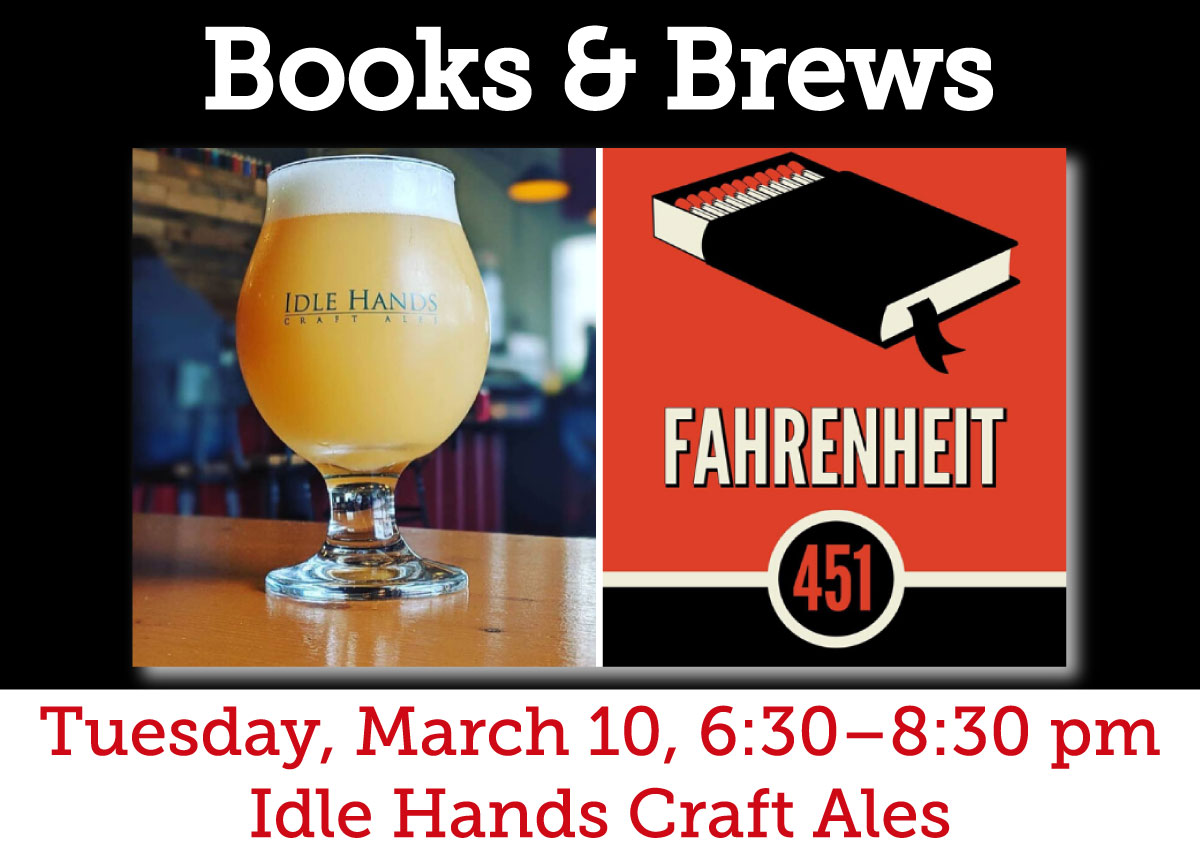 """Brews & Books"" at Idle Hands"