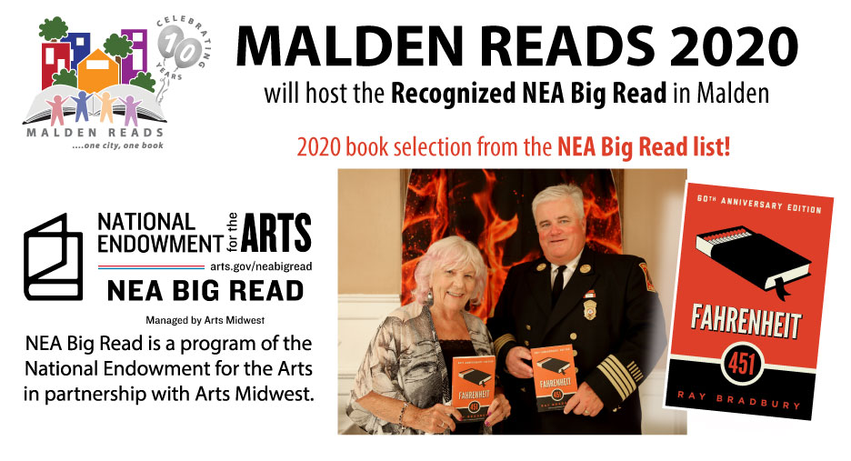 Malden Reads receives prestigious national grant in time for 10th year